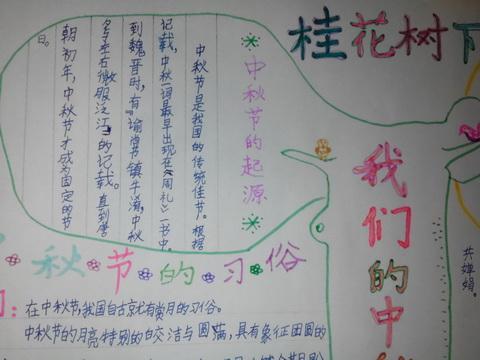 中秋节手抄报的诗-中秋节手抄报图片
