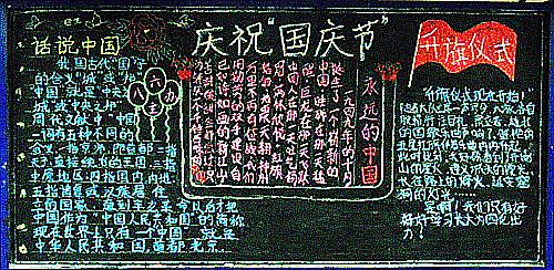国庆节黑板报图片